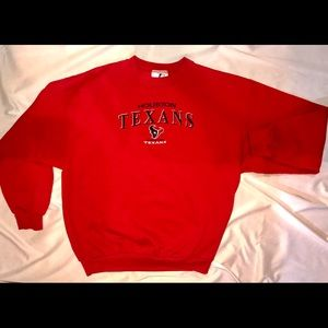 Houston Texans Red Crewneck Sweater - Large 10/10